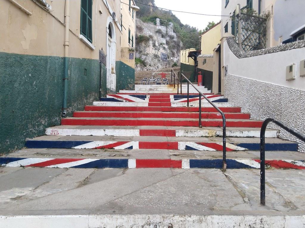 Devil's Gap Road, Union Jack Steps GIbraltar