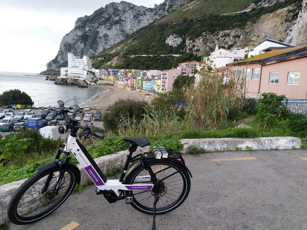Taking the Gibraltar EBike to Catalan Bay