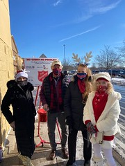 State Rep. Kathleen McCarty and State Senator Paul Formica rang the bell for the Salvation Army outside the Waterford Walmart.