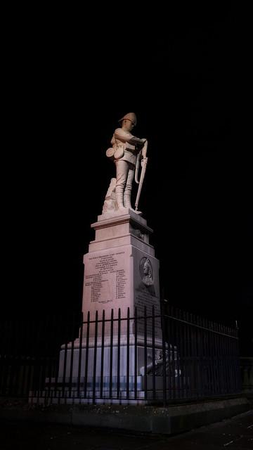 Boer War Memorial outside St Chad's, Shrewsbury