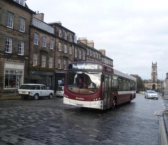 Lothian 186 climbs Howe Street, Edinburgh