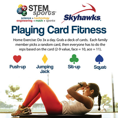 Skyhawks STEM Sports Playing Card Fitness Activity