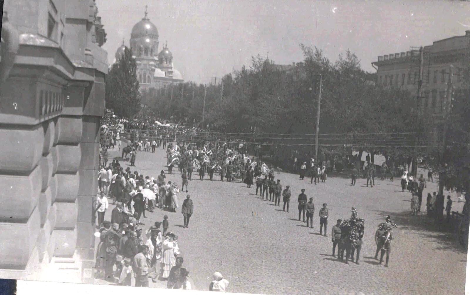 1918. Похороны генерала Маркова Сергея Леонидовича. Новочеркасск, 15 июня