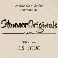 GIFT CARD 3000L for the GROUP VIP.