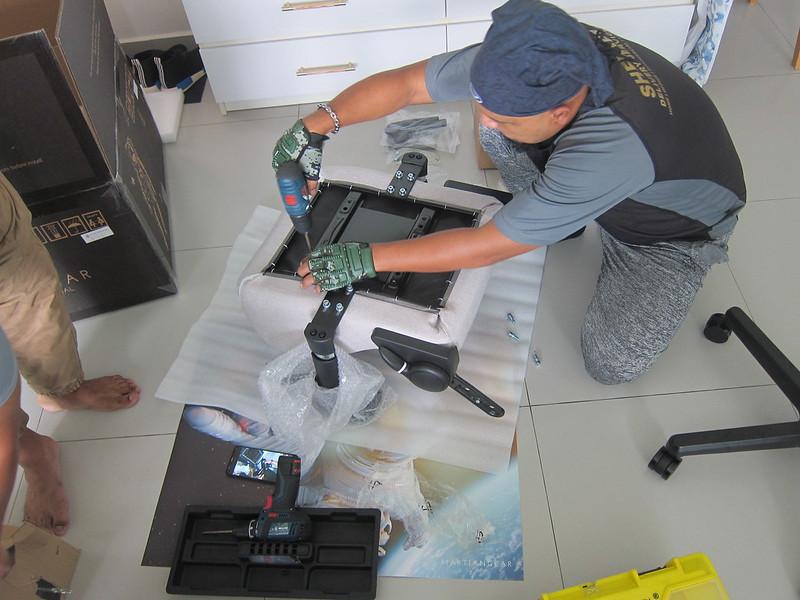 Martiangear Astronaut (Fabric) Gaming Chair - Setup