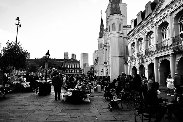 Jackson Square in the evening, New Orleans