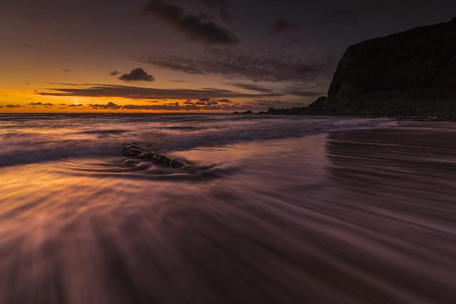 Duckpool Beach Sunset - Cornwall