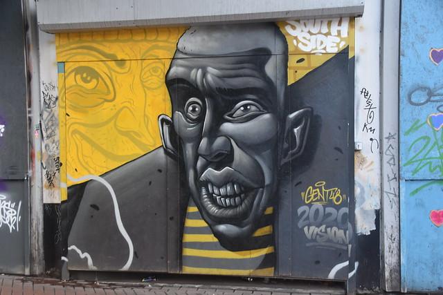 Graffiti at Corner of Hurst Street/Queensway