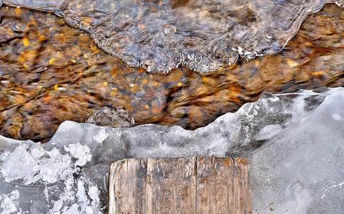 eechillington nikond7500 viewnxi corelpaintshoppro provocanyon bridalveilfalls utah ice patterns water