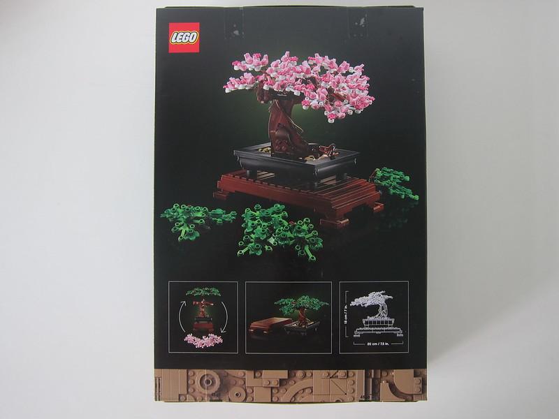 LEGO Bonsai Tree 10281 - Box Back