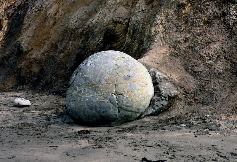 Moeraki Boulder.(A concretion)
