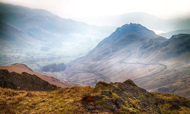 Helm Crag in the haze..