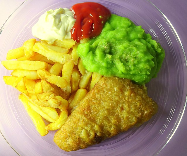 Fish, Chips, Mushy Peas