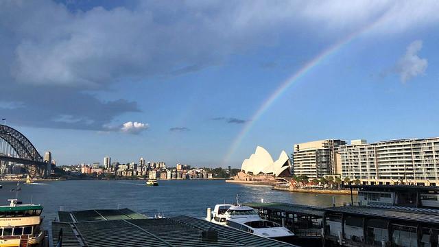 2021 Sydney: Rainbow over the Opera House