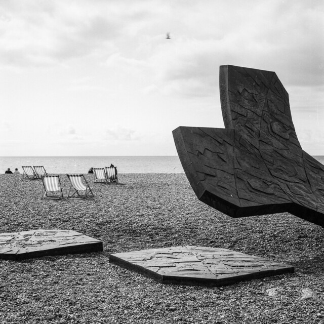 Beach sculpture & deck chairs  #tlrtuesday no. 147