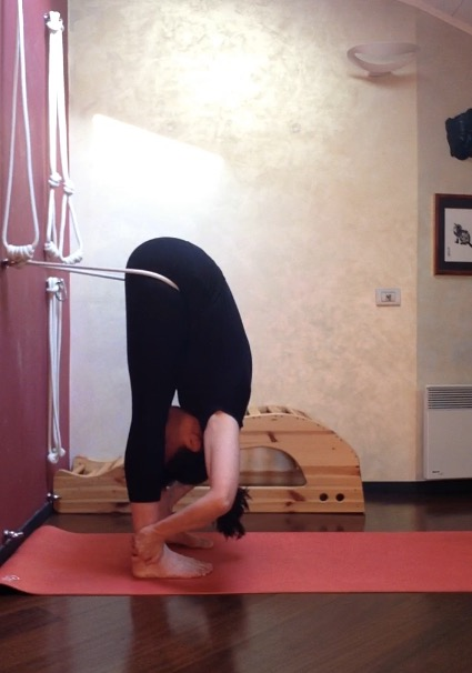 Halasana with the rope