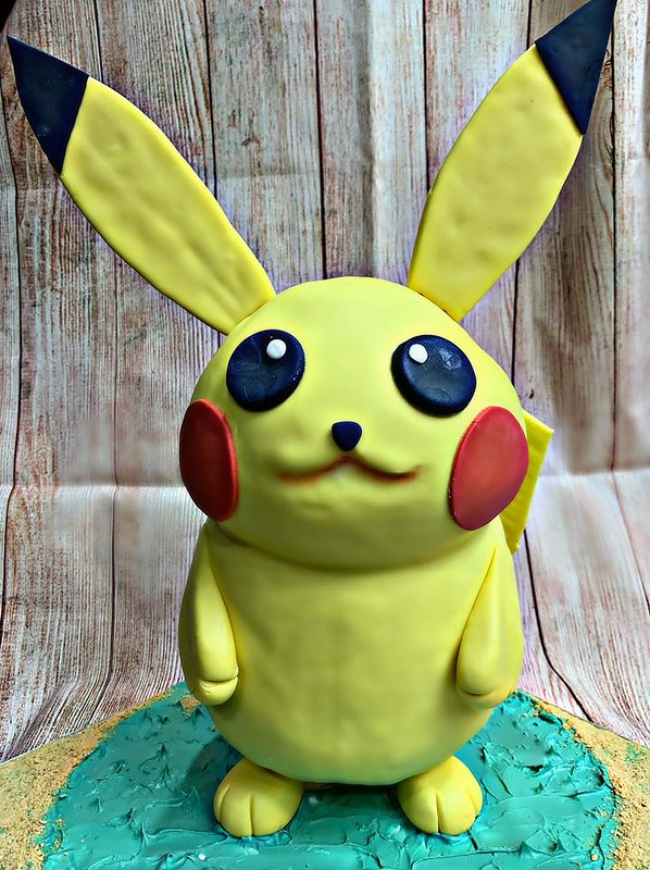 Carved Pikachu Cake by Reds Goodie Basket
