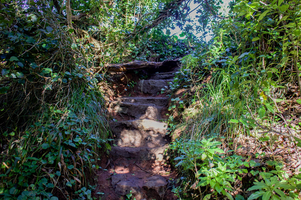 Escaleras finales del sendero de Aguirre en Anaga