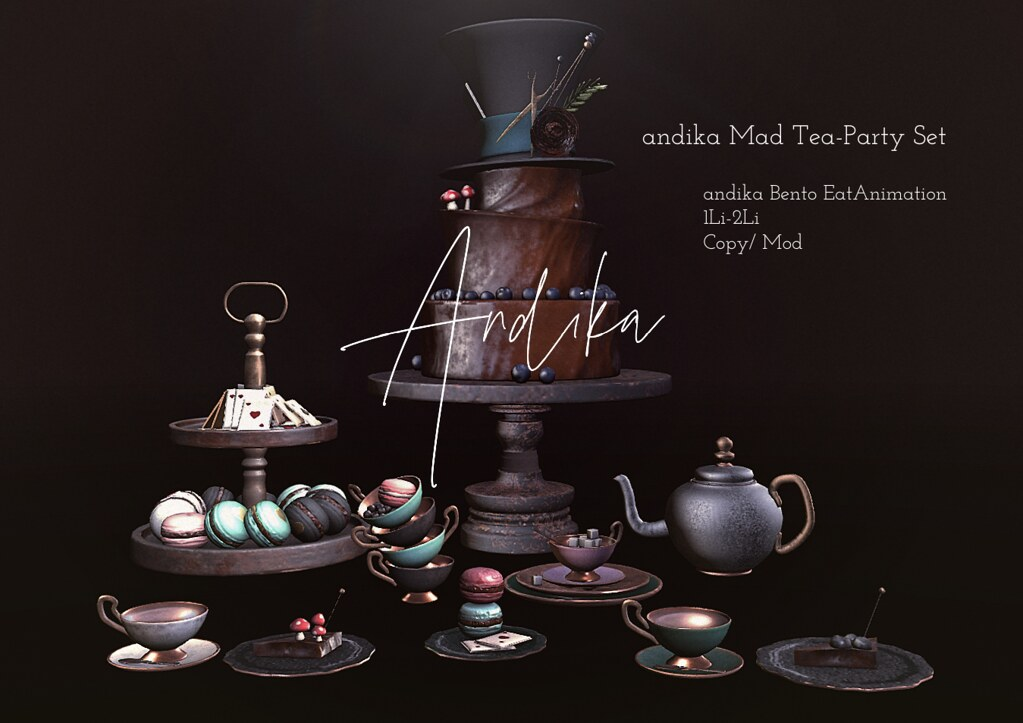 andika[ Mad Tea Party Set]For Food court