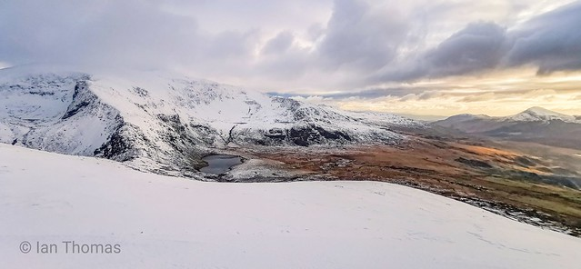 Snowy Snowdon From Cynghorion..