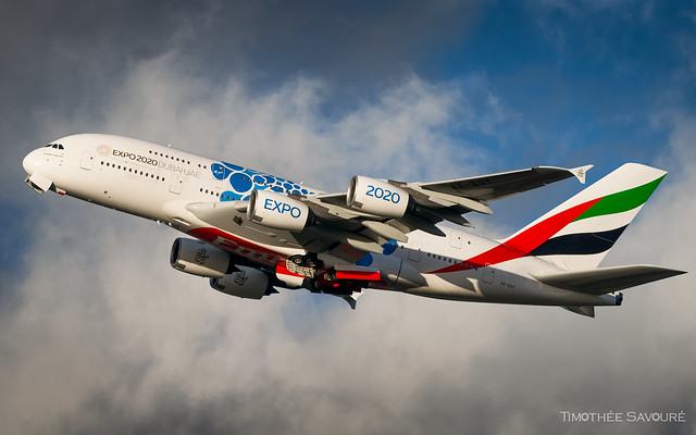 CDG   Emirates 'Expo 2020 - Blue' Airbus A380   A6-EOT