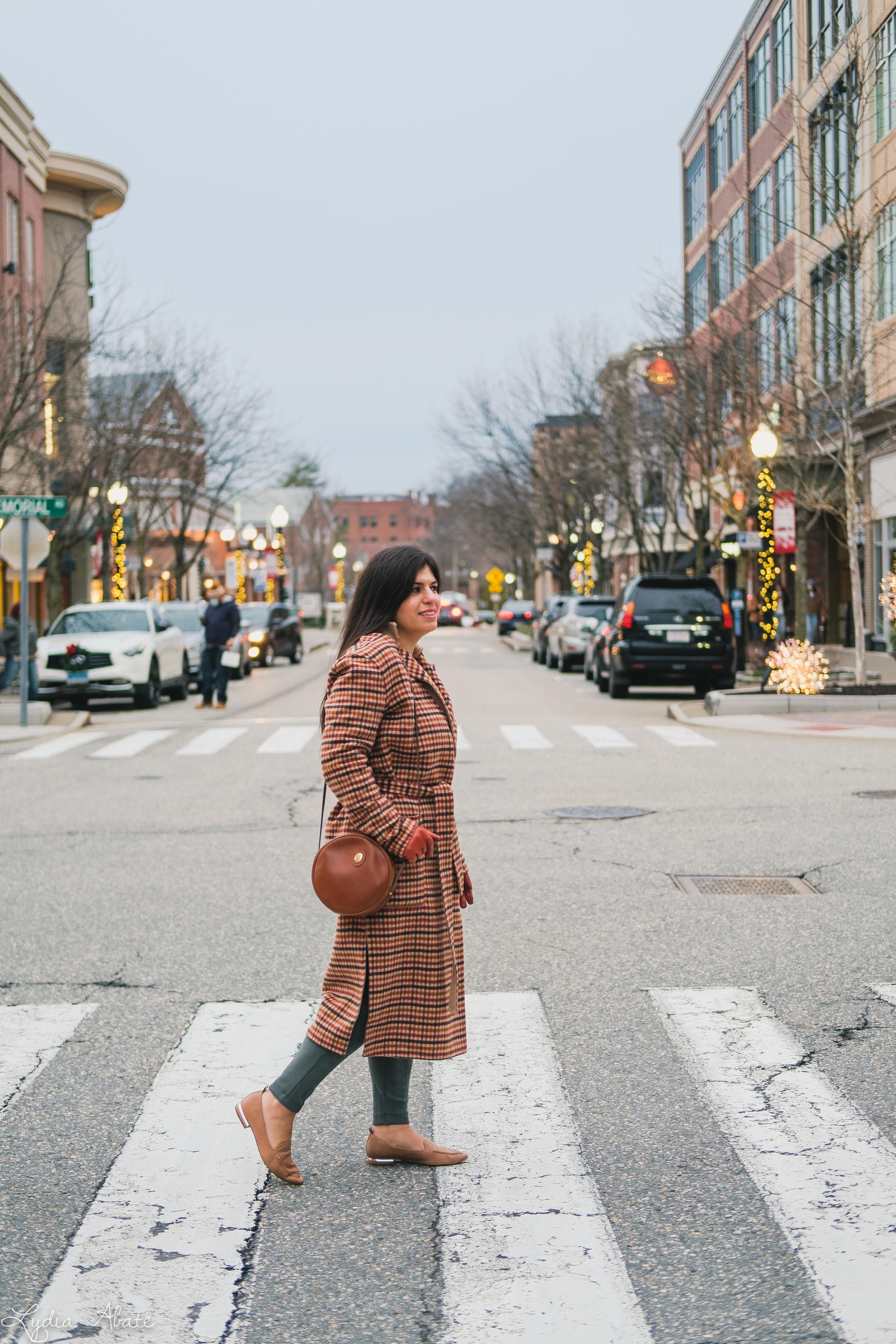 plaid reversable coat, suede leggings, round bag, camel sweater-5.jpg