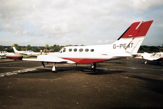 G-PEAT  -  Cessna 421B Golden Eagle c/n 421B-0432  -  EGTR 16/10/99