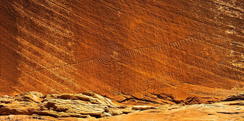 Long Petroglyph Design