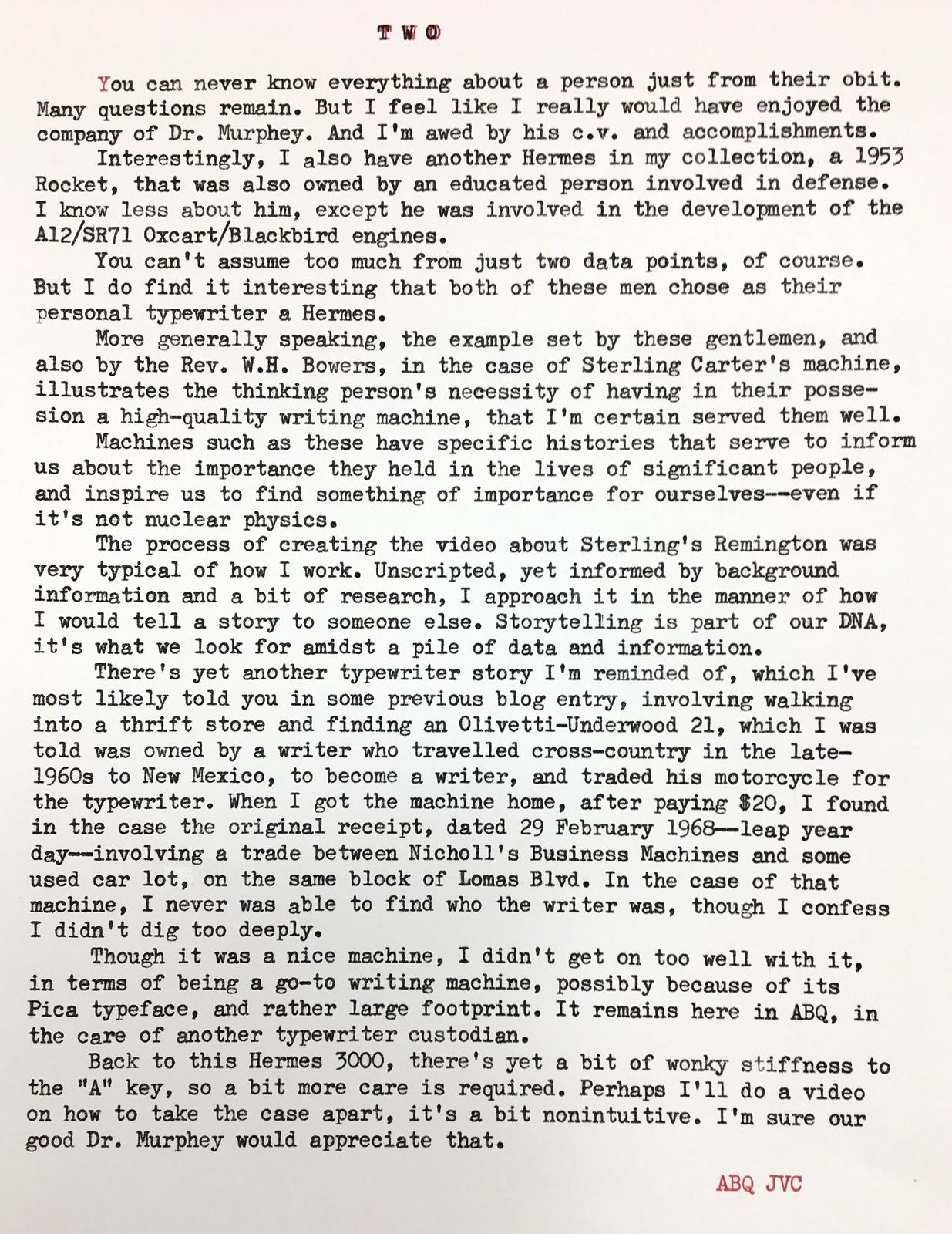 Typewriter History, Page 2