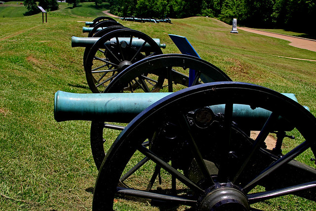 Civil War cannons at Vicksburg National Park