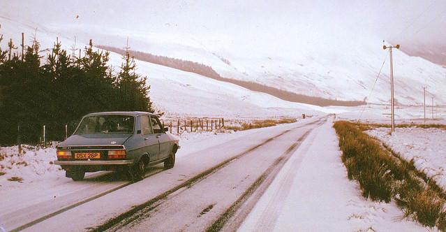 Winter driving, Scotland 1979