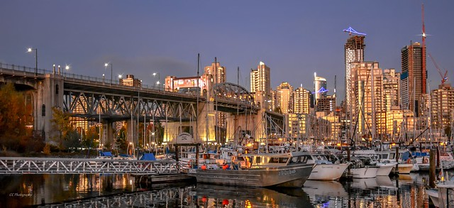 Harbour side - False Creek Fishermen's Wharf - Vancouver, BC