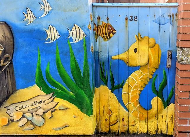 Urban art in a St Annes backstreet