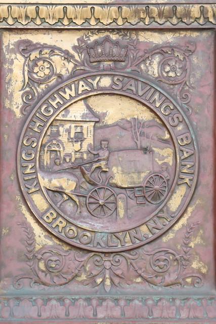 Kings Highway Savings Bank, surviving signage, Homecrest, Brooklyn