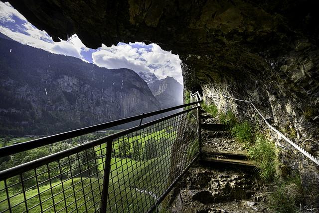 Way to Staubbach Waterfall in Lauterbrunnen - Bern - Switzerland