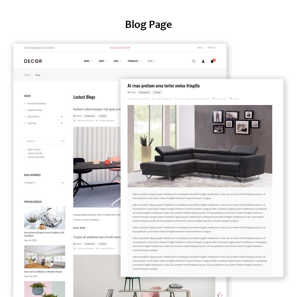 Decor Furniture eCommerce Prestashop Theme