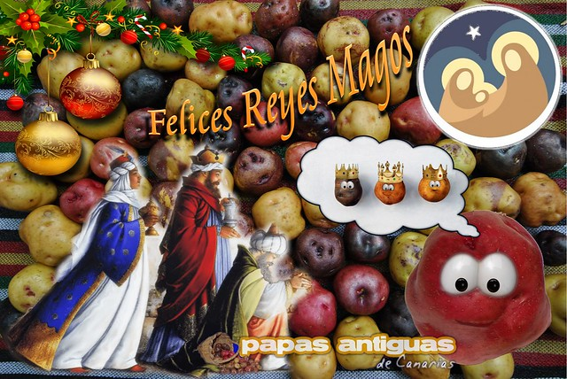 Postal de Reyes, Papas Antiguas de Canarias