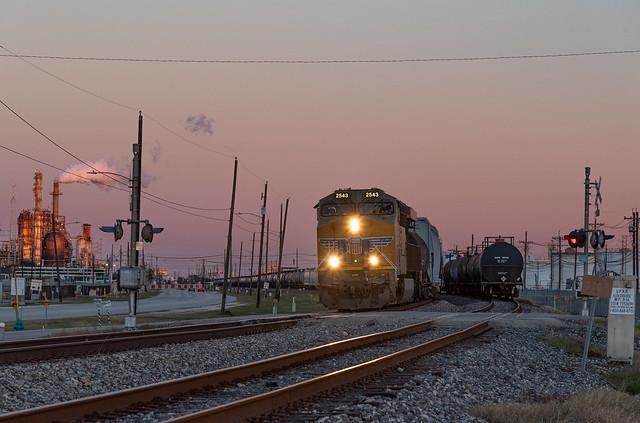 Twilight in the Port of Houston