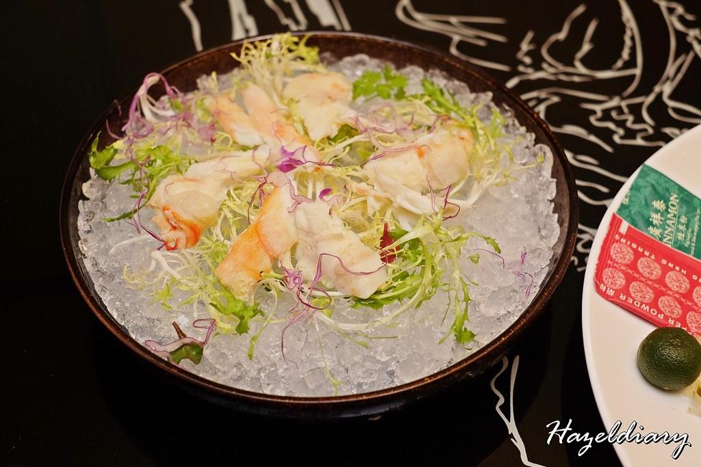 Xin Cuisine-Alaskan Crab with Salted Egg Yolk Sauce Yu Sheng-1