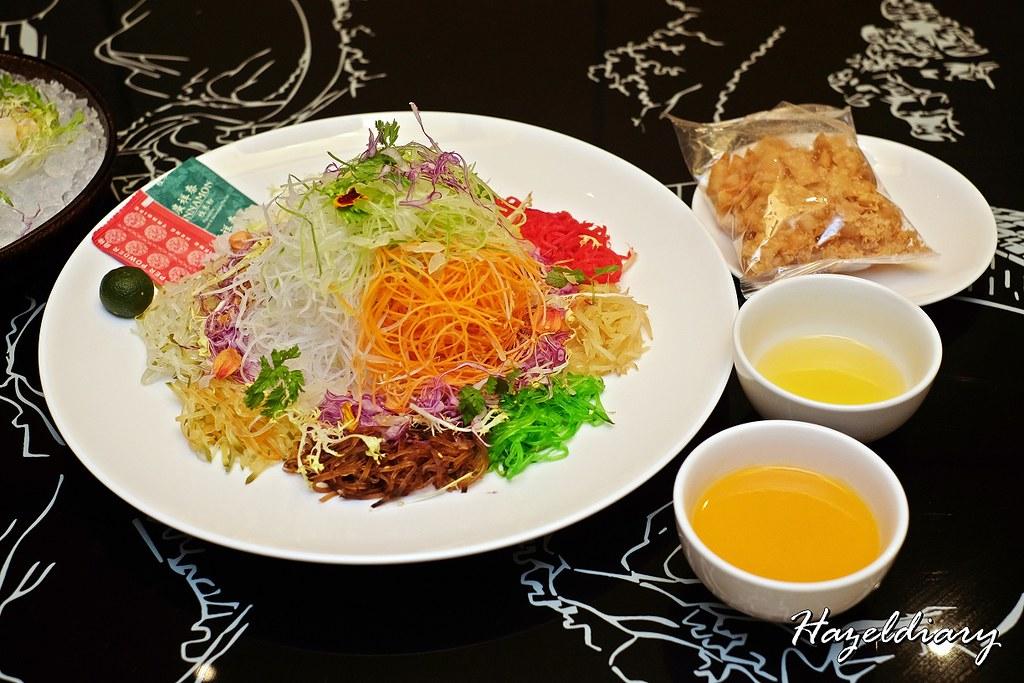 Xin Cuisine-Alaskan Crab with Salted Egg Yolk Sauce Yu Sheng