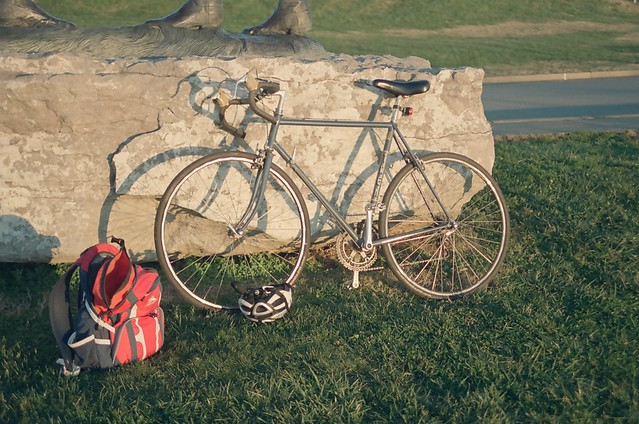 Sunset bike ride.