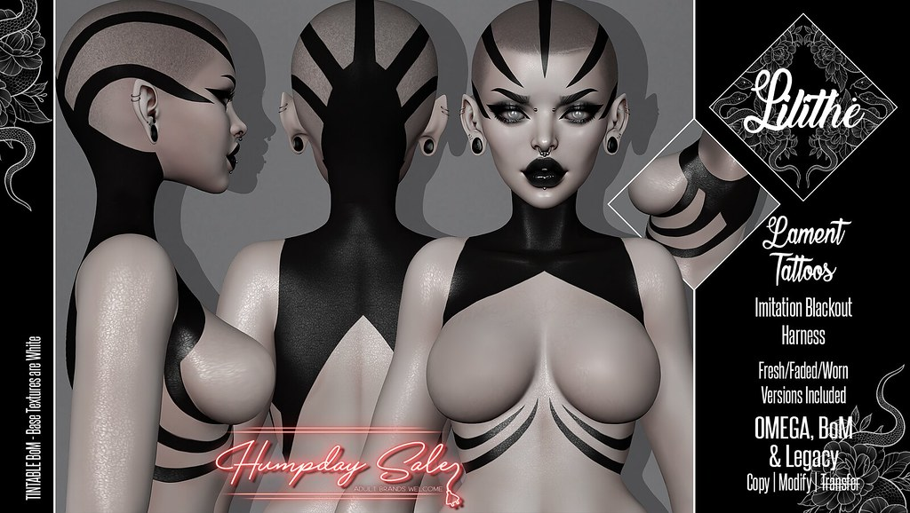 Lilithe'// Lament Tattoos @ Humpday Sale