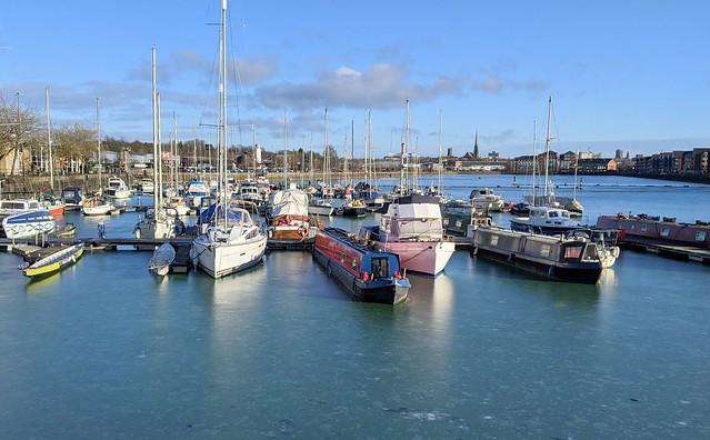 Frozen Preston Docks
