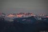 Le ultime luci del tramonto sulla Presolana