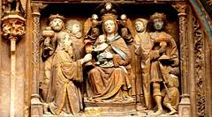 Aranda de Duero (Burgos, Castilla-León, Sp) – Iglesia Santa María – Portada – Los Magos