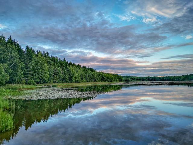 Lake View from Merrasjärvi in the Summer
