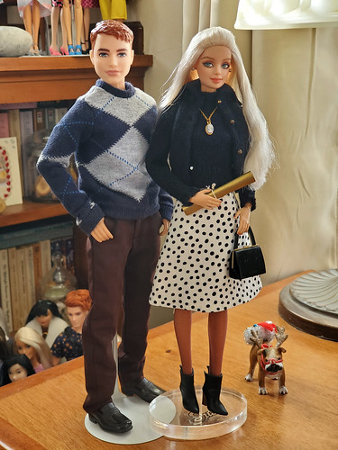 Patrick and Bianca.  Bianca's outfit is by Randall Craig.