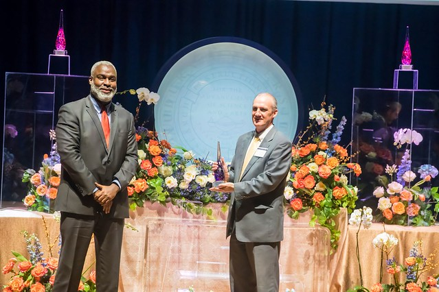 Royrickers Cook and Steven Brown at Auburn's 2020 Faculty Awards.