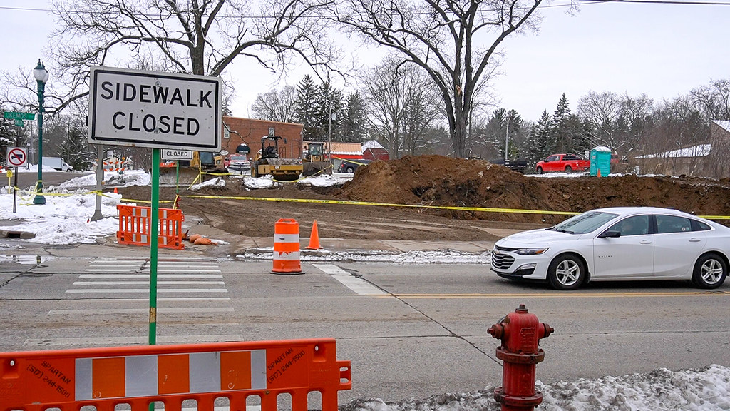 Village of Okemos Demolition Begins on Block 1 and 2 of Downtown Okemos
