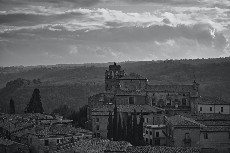 Landscape views across to Orvieto, Italy